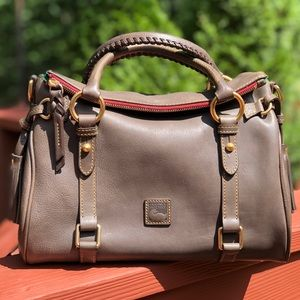Small Florentine Satchel in Charcoal
